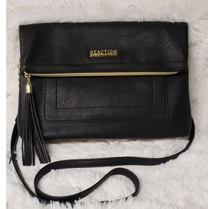 Reaction Kenneth Cole Black Leather Crossbody